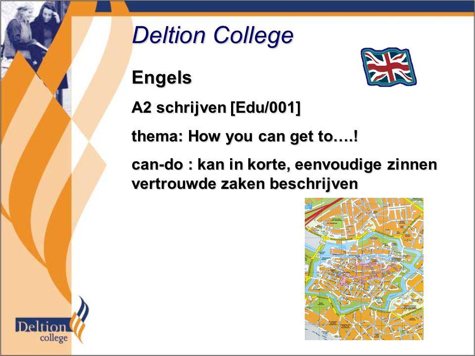 Deltion College Engels A2 schrijven [Edu/001]